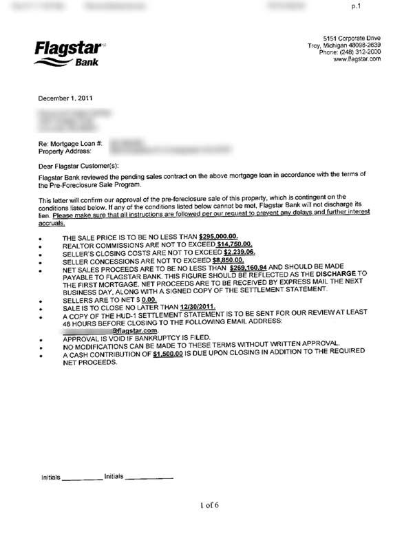 Flagstar Approval Letter